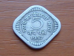 INDIA 5 PAISE 1957 #