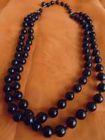Különlegesen szép ónix nyaklánc különleges kapocs megodással jelzett MADE GERMÁNY 220,5 ct