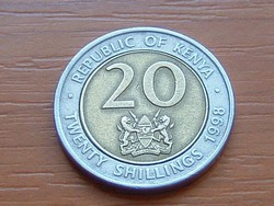 KENYA 20 SHILLINGS 1998 ARAP MOI BIMETÁL #