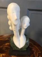 Art deco modern márvány szoborka