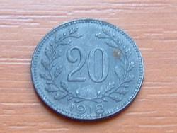 AUSZTRIA OSZTRÁK 20 HELLER 1918