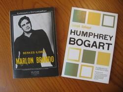 Marlon Brando és Humphrey Bogart könyvek