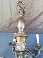 Antik bronz csillár, kos fejekel