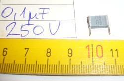 100nF 250V Siemens Metallized Polyester Film AUDIO KONDENZÁTOR Vintage SILVER CAPS