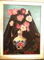 Vörös Géza (1897-1957) Petúniás csendélet