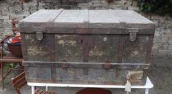 Antik nagy utazó láda Alfréd Pollak tulajdona volt híres ezüstműves Ritka !!!!!!