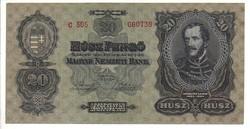 20 pengő 1930 1. kiváló Vastag papíros