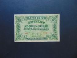 50000 adópengő 1946 sorszámos 02