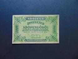 50000 adópengő 1946 sorszám nélkül