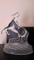 16 cm öntött üveg ló
