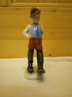Herendi hétmérföldes csizmás fiú porcelán figura