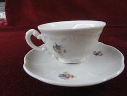 Zsolnay porcelán kávéscsésze + alátét.  Pajzsmintás.