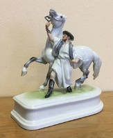 Herendi lovát fékező csikós,koronás jellel