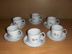 Hollóházi porcelán kávéscsésze készlet 6 személyes (23/d)