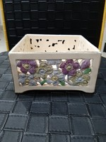Antik fischer áttört  kináló doboz