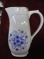 Zsolnay porcelán kék virágos vizeskancsó.