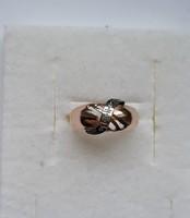 3 gyémánt köves orosz 14 karátos arany gyűrű