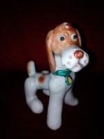 Régi, mázas kerámia, Izsépy kutya figura