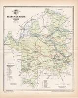 Békés vármegye térkép 1896 (2), lexikon melléklet, Gönczy Pál, 23 x 29 cm, megye, Posner Károly