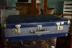 Kazeto, reto bőrönd, kék