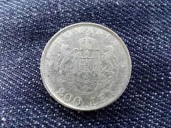 Románia I. Mihály .835 ezüst 200 Lej 1942/id 9500/
