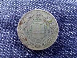 Olaszország I. Umbertó (1878-1900) .835 ezüst 1 Líra 1887 M/id 9502/