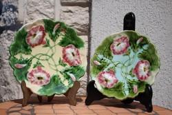 2db.szecessziós majoloka tányér falidísz Körmöcbánya