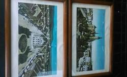 Nagyon ritka nagyméretű képeslapok keretezve  gyűjteményből