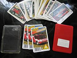 Ritkaság! Tűzoltó autós PIATNIK kártya