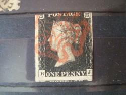 1840 Black Penny!!A világ első bélyege!!