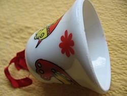 Madaras porcelán csengő, kis harang