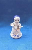 Galambokat etető Grafenthal porcelán kislány figura 10 cm (po-2)