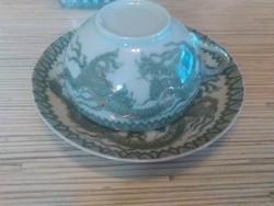 Chinai tojáshély porcelán kávés csésze kistányéral