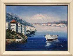 Keretezett olajfestmény Görögországból