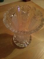 Gyönyörű hibátlan ólomkristály tál, pohár, kehely