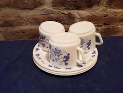 PIREX mintás jénai 3 db csésze tányérral
