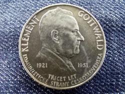 Csehszlovákia Kommunista Párt .500 ezüst 100 Korona 1951/id 9484/