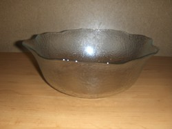 Francia üveg mély kínáló tál asztalközép 24 cm (afp-35)