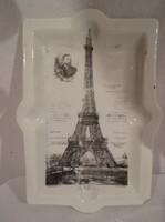 Pocelán - hamutál - antik - széle lepattant - gyönyörű - ritkaság 15 x 11 cm