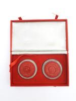 Cinóber és jáde szett - eredeti dobozában - kínai vörös cinóber szuvenír, ajándék