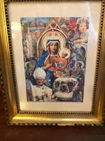 B. Hajdú László: II. János Pál Pápa Mo.-i látogatása collage