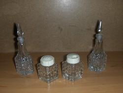 Retro üveg só és borsszóró ecet és olajtartó (20/d)