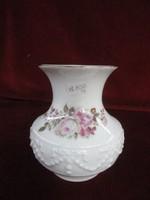 Royal KPM  Bavaria német porcelán. váza. Nyomott mintás, rózsa motívummal.