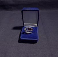 sherry borostyán köves ezüst gyűrű.
