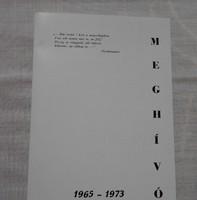 Ballagási meghívó - Kiskunmajsa, 1965-1973 (általános iskola)