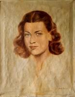 Zobor Jenő : Női portré, 50 x 40 cm, olaj, vászon
