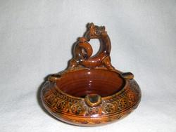 Tradicionális autentikus Kínai sárkány ünnep alkalmából készített kerámia tálka gyűrűtartó (fp)