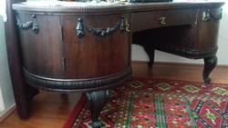 Fa íróasztal székkel