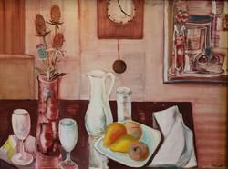 KRIEG FERENC: Csendélet c. festménye.