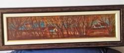 Fontos Sándor : Tanya az erdőben festmény